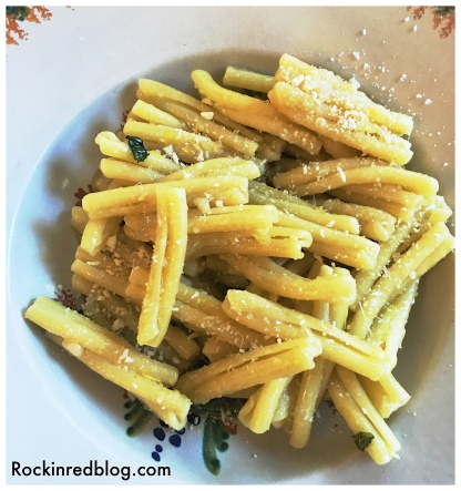 Incredible pasta, al dente with just a splash of Ravida olive oil, fresh herbs and parmesan dusting.