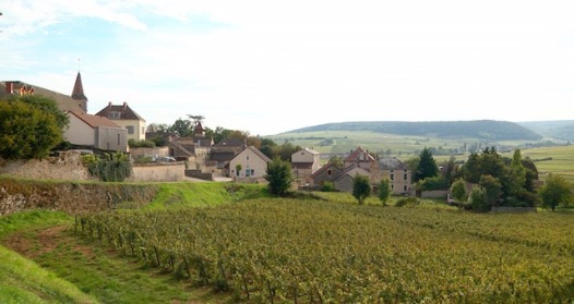 The quaint Burgundian village of Monthélie