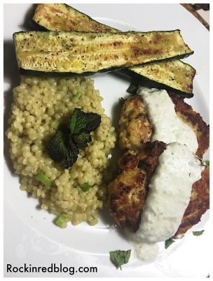 Chicken Kofte with Zucchini and Couscous