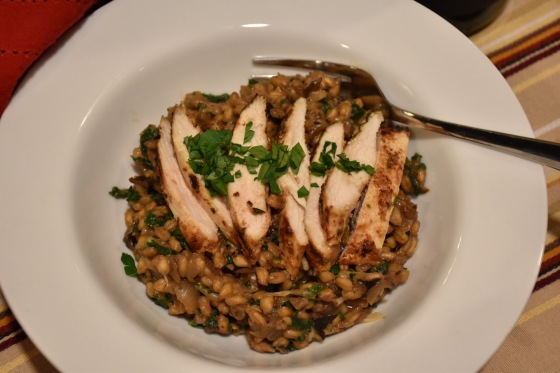 barley-risotto-with-mushrooms-and-chicken