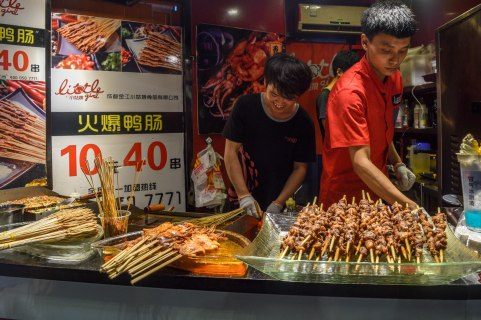 Street food is a must-do in China, and the vendors are always so willing to strike up a convo!