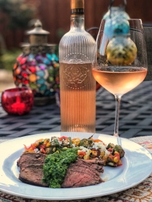 Ultimate Provence Rose with steak dinner Winophiles