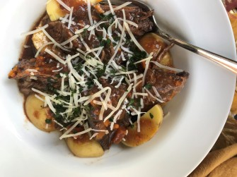 slow cooker beef Pedroncelli dinner