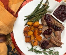 lamb chops with blackberry pan sauce dinner 3