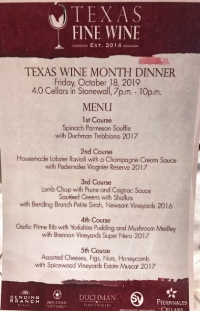 Texas Fine Wine Dinner 2019