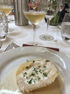 Texas Fine Wine ravioli with Duchman Trebbiano